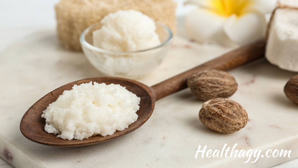 Shea butter is thick white and creamy butter, extracted from small brown shea nuts